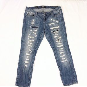Torrid Boyfriend Jeans with distressing size 18